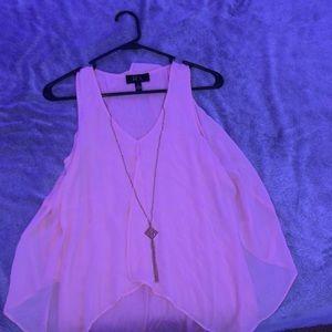 Tank top pink blouse